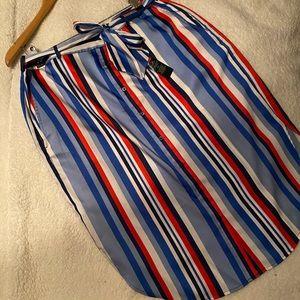 """NEVER WORN Ralph Lauren """"Striped Twill Skirt"""""""
